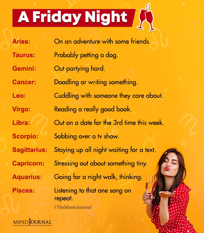 what are the zodiac signs doing on a friday night