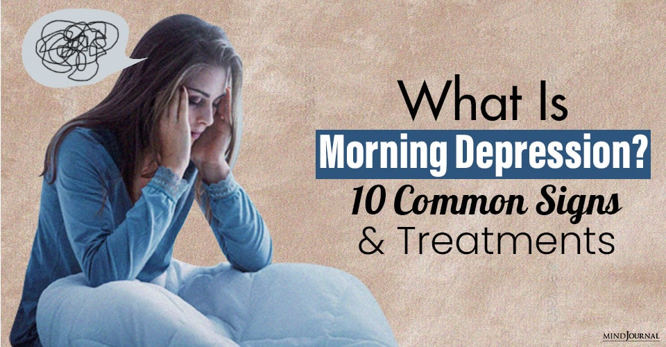 what is morning depression