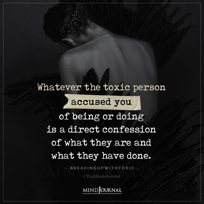 whatever the toxic person accused you of being or doing
