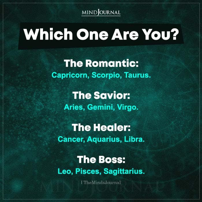which one are you romantic savior healer or boss