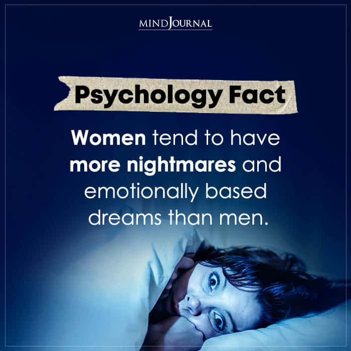 Women Tend To Have More Nightmares