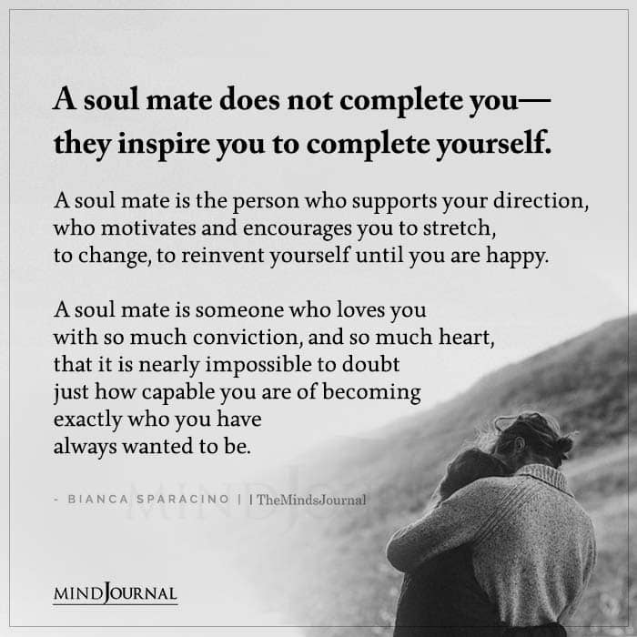 A Soul Mate Does Not Complete You