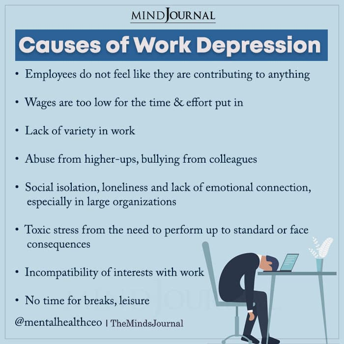 Causes of Work Depression