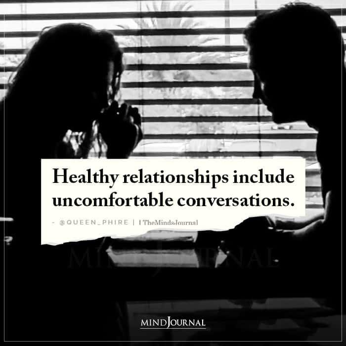 Healthy Relationships Include Uncomfortable Conversations