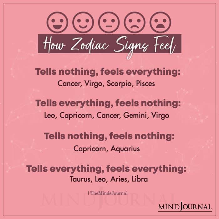 How Zodiac Signs Feel