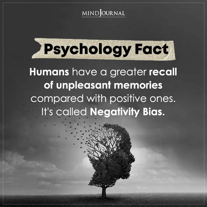 Humans Have A Greater Recall Of Unpleasant Memories