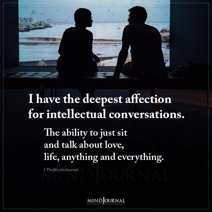 deeper intimate conversation