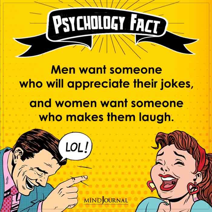Men Want Someone Who Will Appreciate Their Jokes