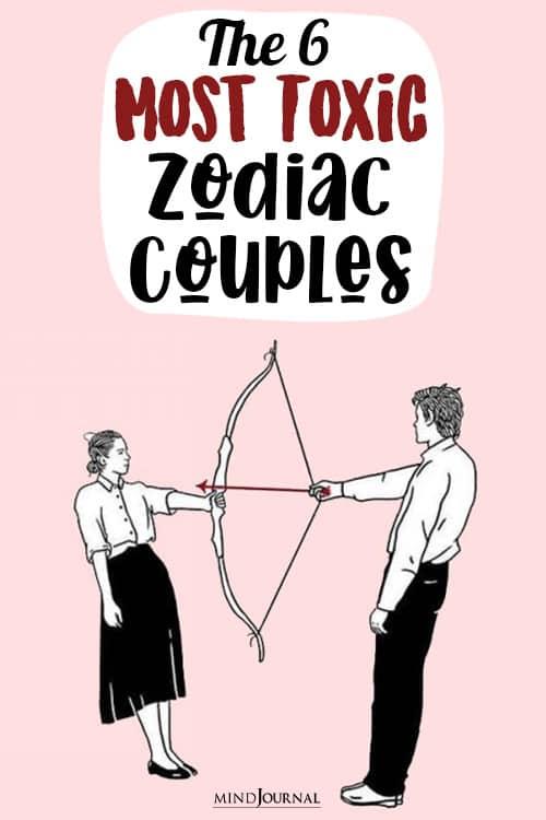 Most Toxic Zodiac Couples pin