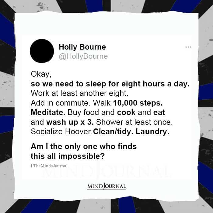 Okay So We Need to Sleep for Eight Hours a Day