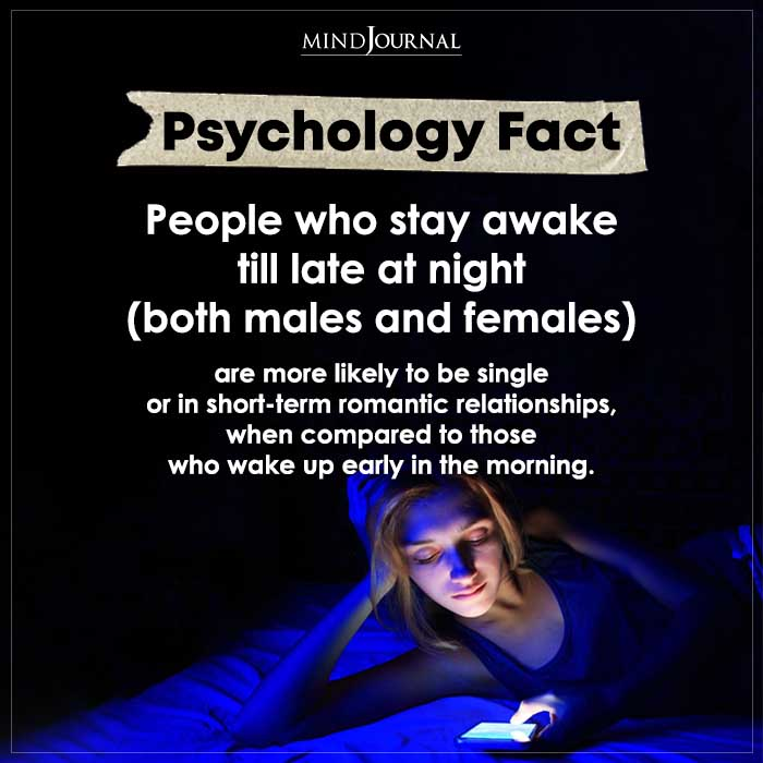 People Who Stay Awake Till Late At Night
