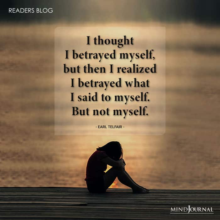 Self betrayal
