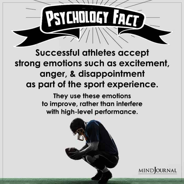 Successful Athletes Accept Strong Emotions Such as Excitement