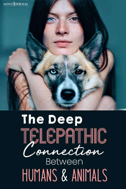 Telepathic Connection Between Humans Animals pin