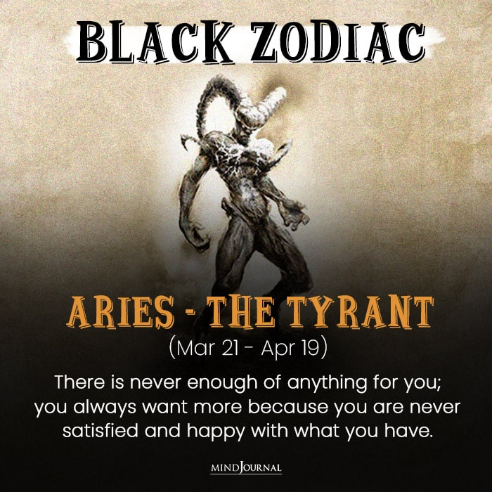 The Evil Side Of aries