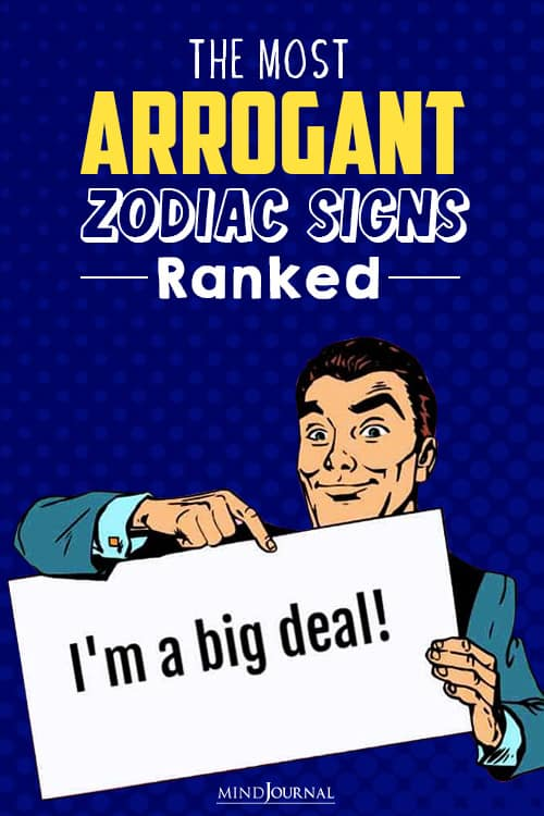 The Most Arrogant Zodiac Signs pin