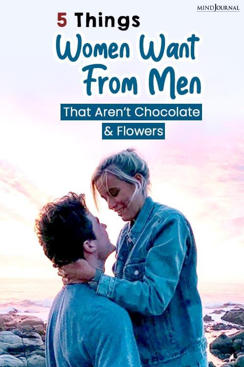 Things Women Want From Men pin