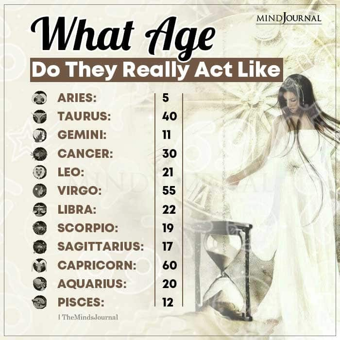 What Age Do Zodiac Signs Really Act Like