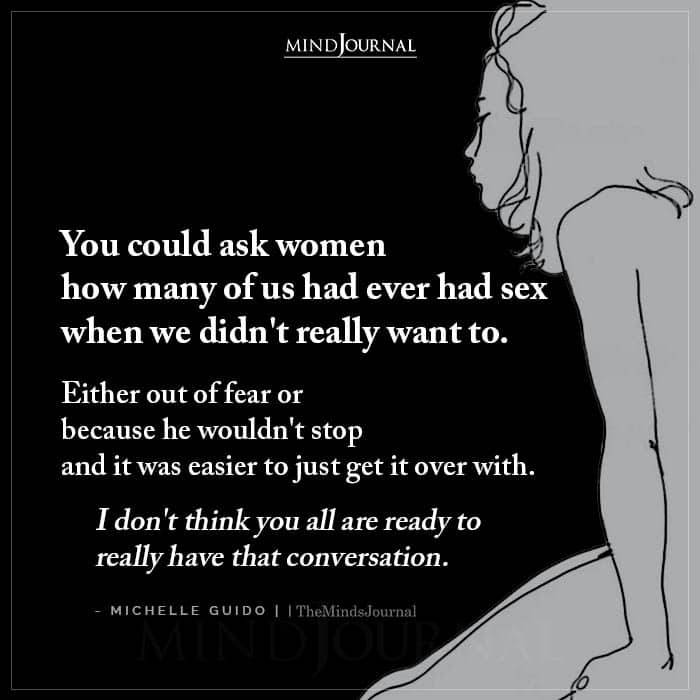 You Could Ask Women How Many Of Us