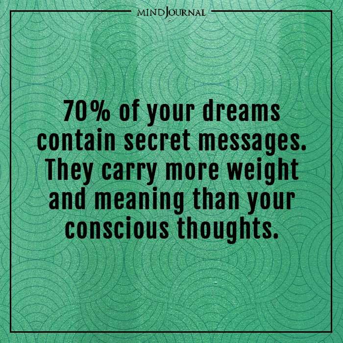 amazing psychological facts dreams contain secret messages