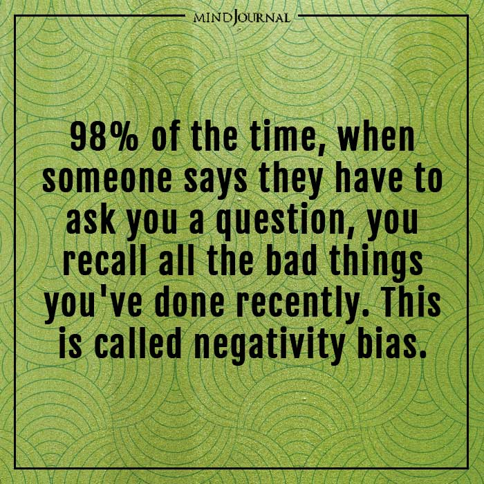 amazing psychological facts negativity bias