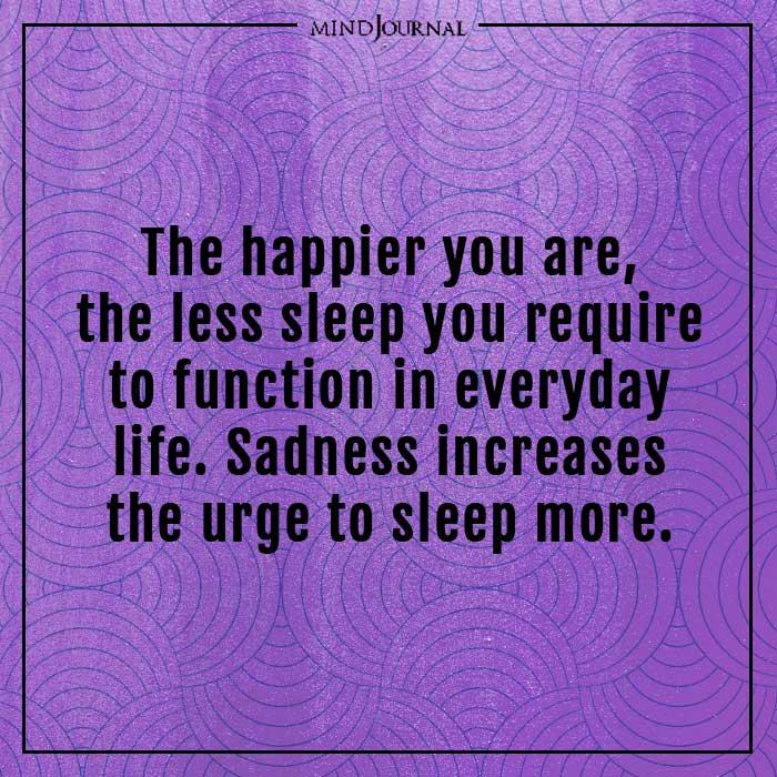 amazing psychological facts sadness increases sleep