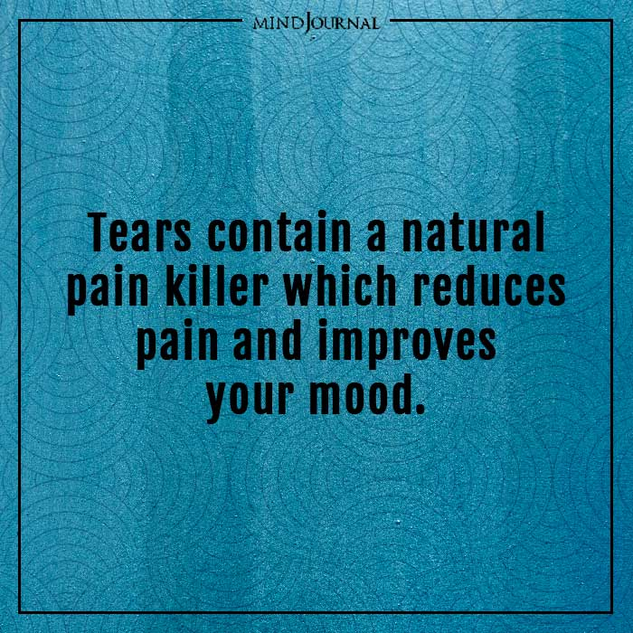 amazing psychological facts tears natural pain killer