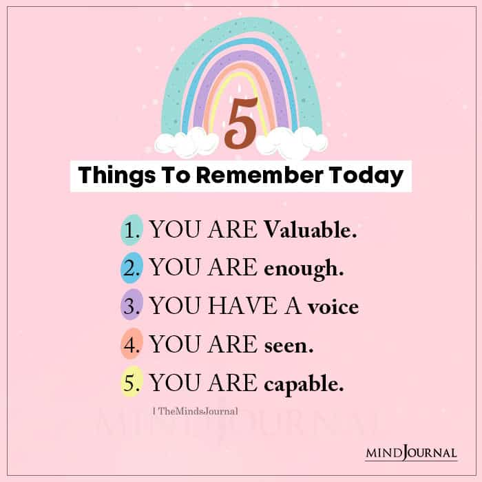 things to remember today