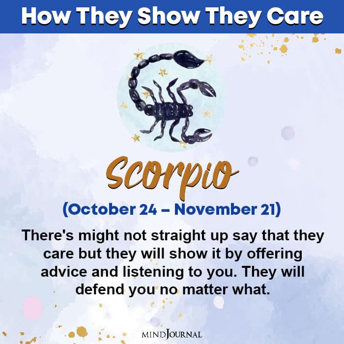 zodiac sign care scorpio