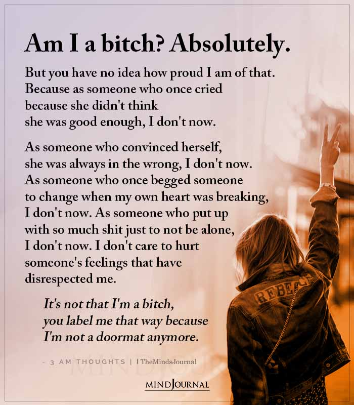 Am I A Bitch Absolutely