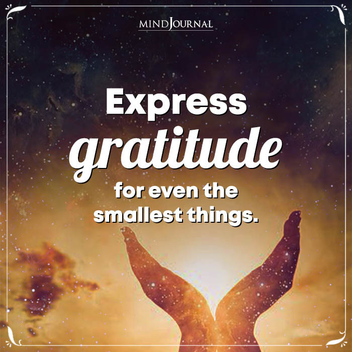 Express Gratitude For Even The Smallest Things
