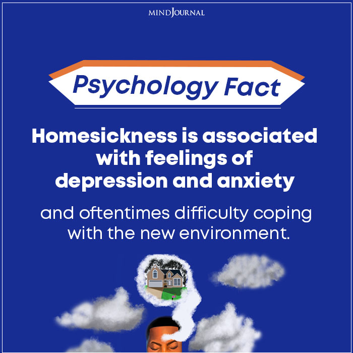 Homesickness Is Associated With Feelings Of Depression