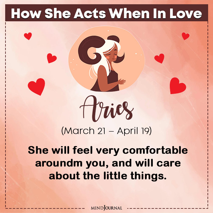 How She Acts When In Love Aries