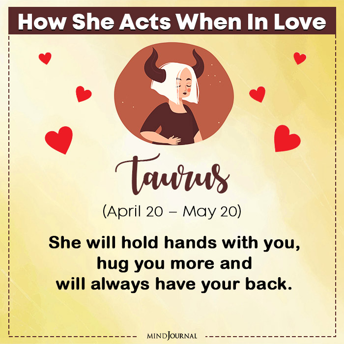 How She Acts When In Love Taurus