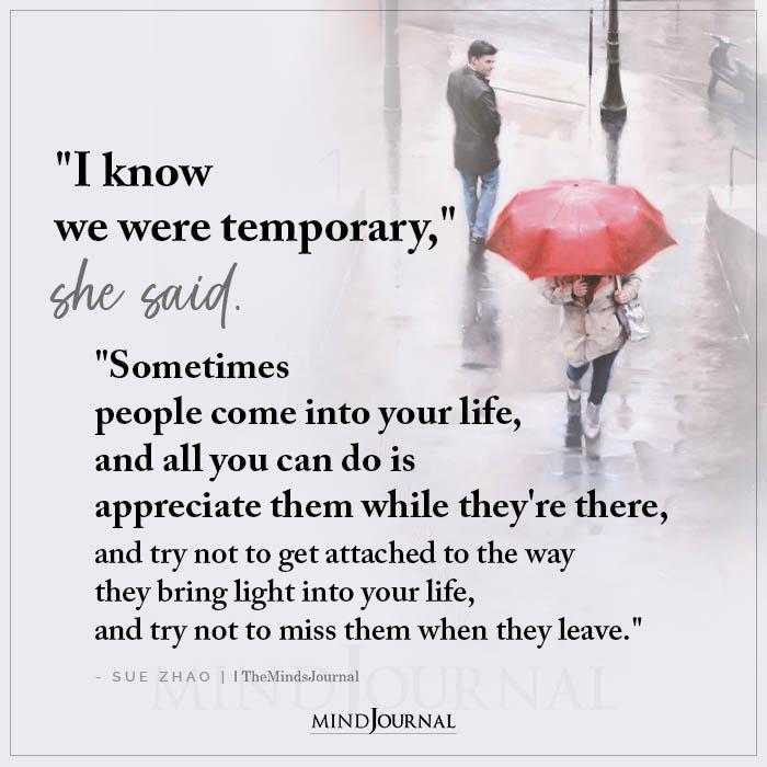 I Know We Were Temporary She Said