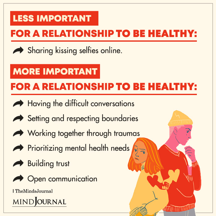 Less Important For a Relationship To Be Healthy