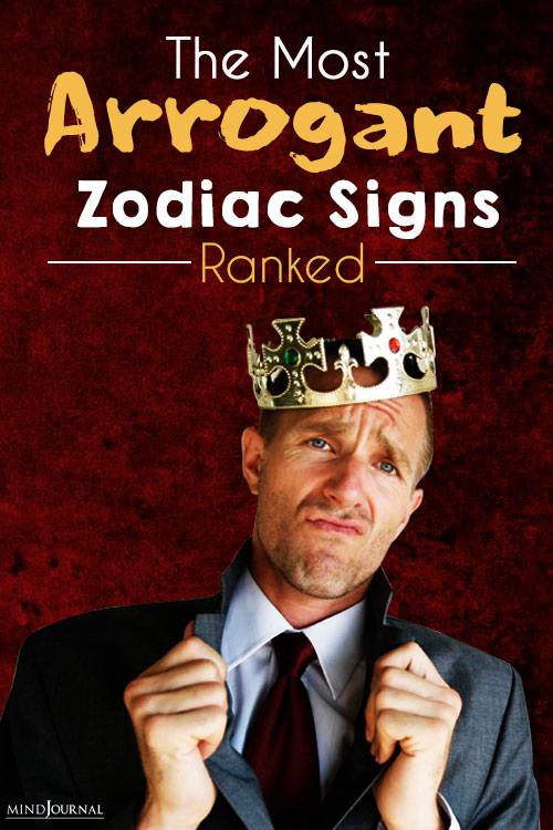 Most Arrogant Zodiac Signs pin
