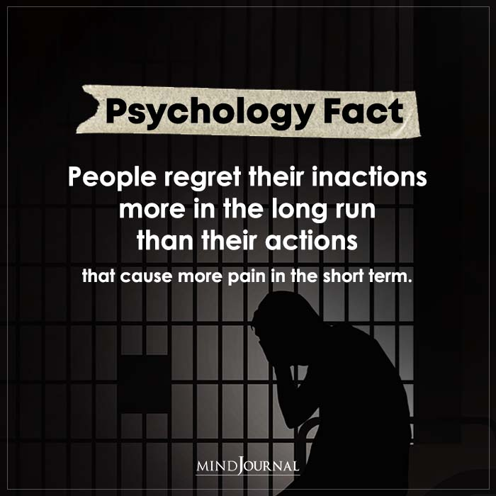 People Regret Their Inactions More