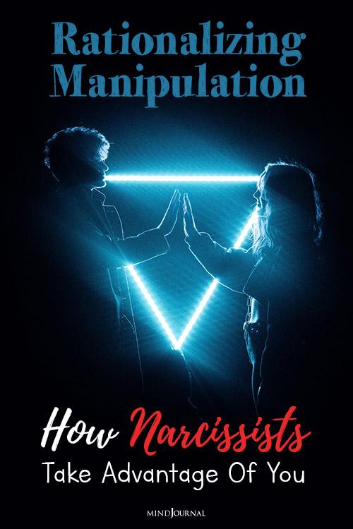 Rationalizing Manipulation narcissist pin