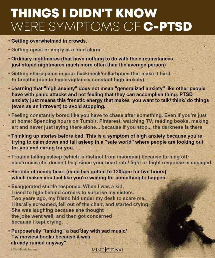 Things I Didnt Know Were Symptoms of C PTSD