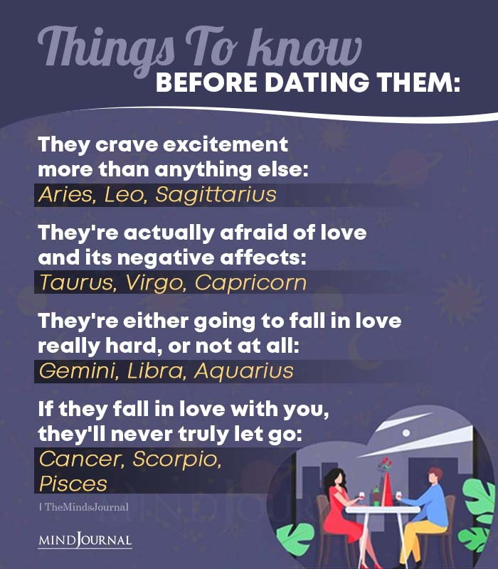Things to Know Before Dating the Zodiac Signs