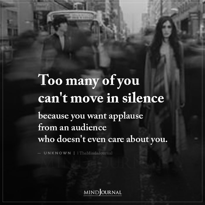 Too Many Of You Cant Move In Silence