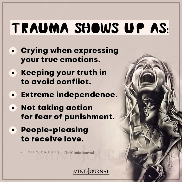 Trauma Shows Up As Crying When Expressing