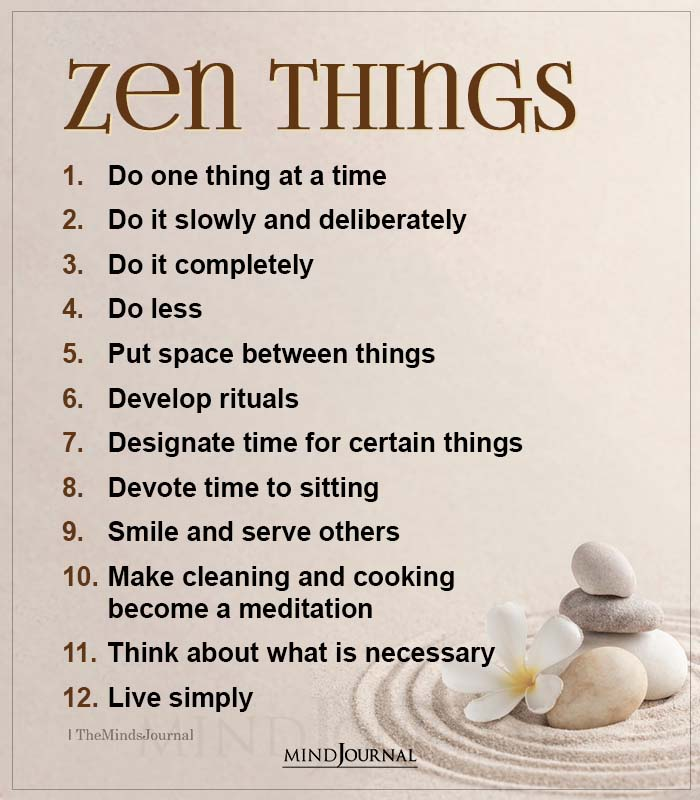 Zen Things Do One Thing At A Time