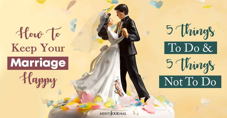 keep your marriage happy