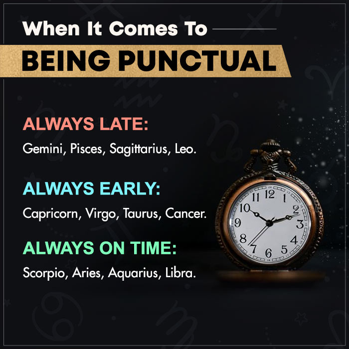 when it comes to being punctual